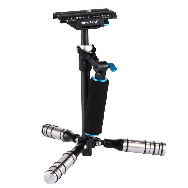 PULUZ P40T Three Axis Carbon Fiber DSLR Handheld Stabilizer Camera Shock Absorber