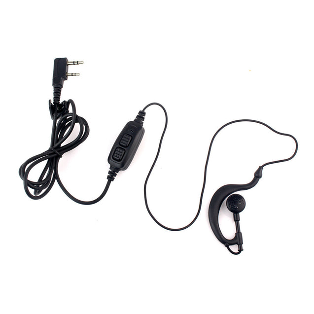 2 PIN PTT Earpiece Headset Earphone Mic For BAOFENG 888S UV5 Two-way Radio Walkie Talkie