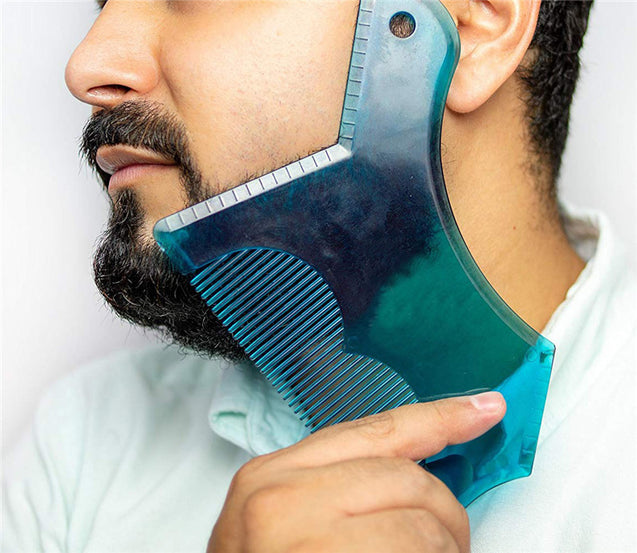 Transparent Beard Shaping Template Shaving Beard Comb Grooming Tools for Men Facial Beard Care