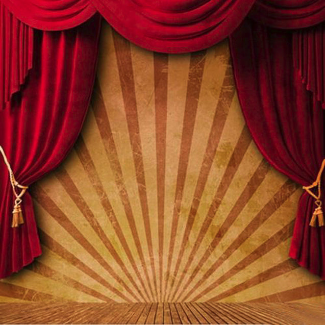 10x10FT Circus Red Curtain Stage Photography Backdrop Studio Prop Background