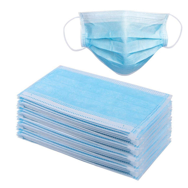 50PCS/Pack Disposable Face Mask 3 Lays Cutton Soft Breathable Face Masks Set