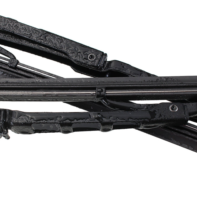 Car Front Pair Metal Frames Windscreen Wiper Blades For BMW series3 E46 1998-2006
