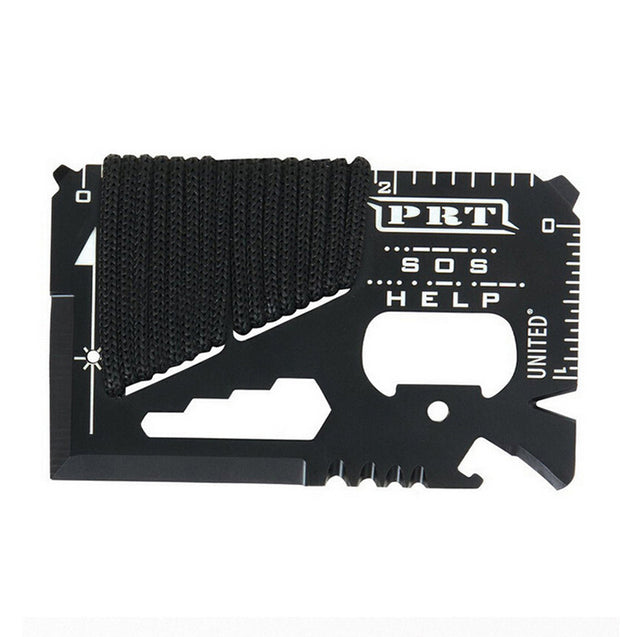 IPRee 14 in 1 Outdoor EDC Card Tools Kit Camping Emergency Survival Ruler Cutter Opener Wrench