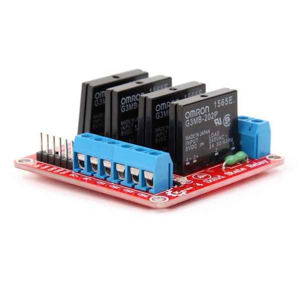 3Pcs Four Way Solid State Relay Module For Arduino