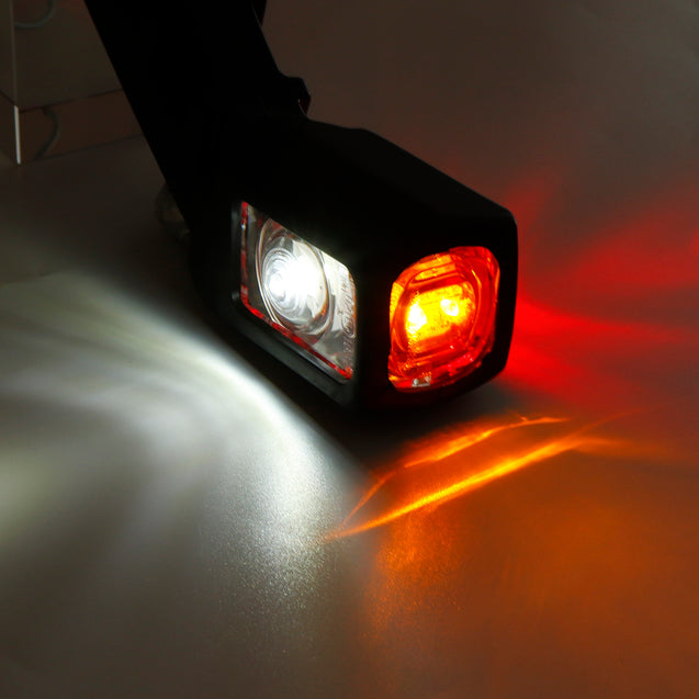 Pair LED Double Side Marker Light Stalk Indicator Lamp For 12V 24V Truck Trailer Lorry Carvan