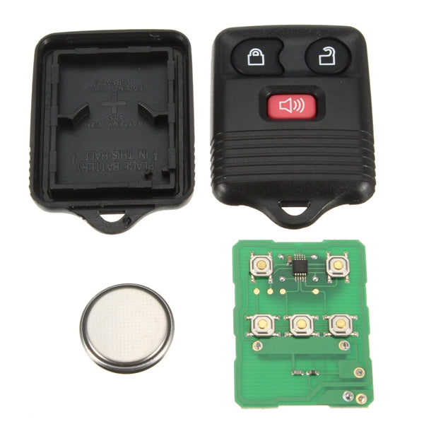 Car Keyless Entry Remote Fob Uncut Ignition Transponder Chip Key Black for Ford