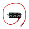10pcs 0.28 Inch Two-wire 2.5-30V Digital Green Display DC Voltmeter Adjustable Voltage Meter