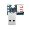 3pcs USB Adapter Board Micro USB to USB Female Connector Male to Female Header 4P 2.54mm