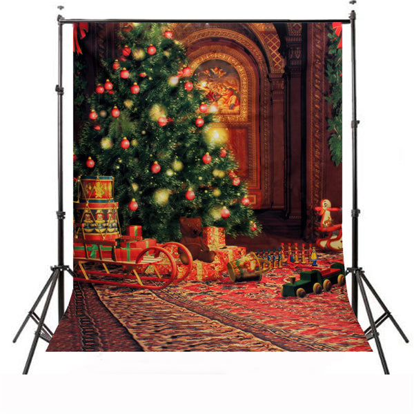 1.5X2.1m Christmas Theme Stereo Waterproof Studio Photography Backdrop Background