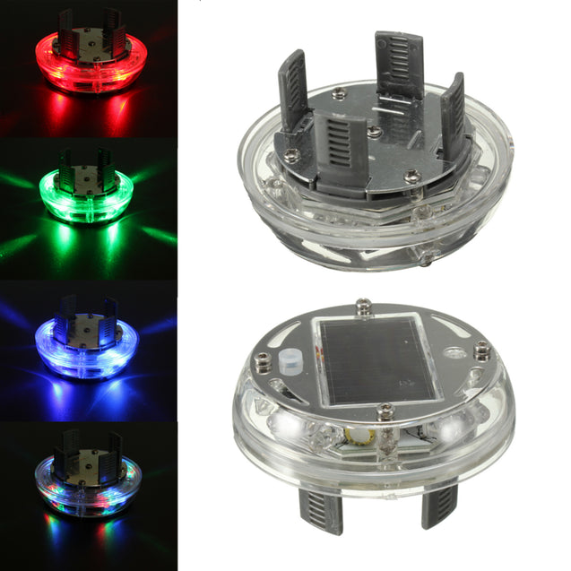 Car Wheel Tire Rim Solar Energy Flash Light Lamp 4 Modes 12 LED