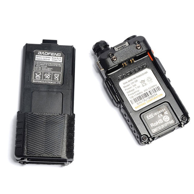 Upgrade BaoFeng UV-5R Walkie Talkie VH/UHF Dual Band Two Way Radio Transceiver 3800mah Battery