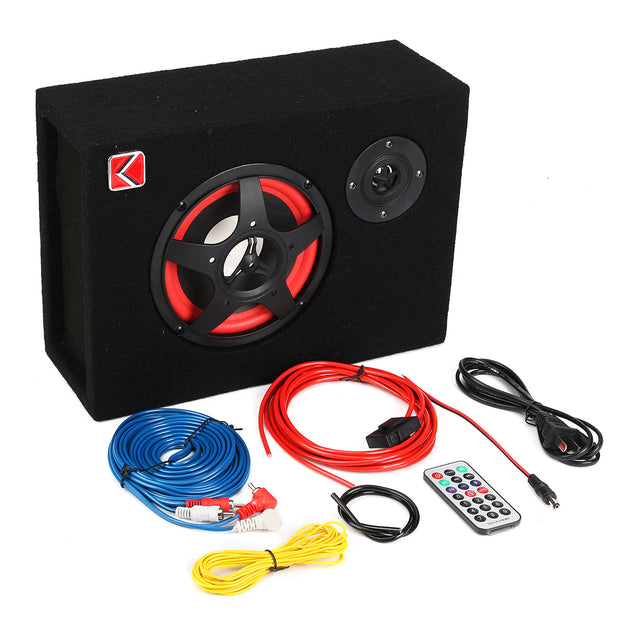 6 Inch 350W 4 Under-Seat Car Subwoofer Speaker Stereo Audio Bass Powerful Amplifier