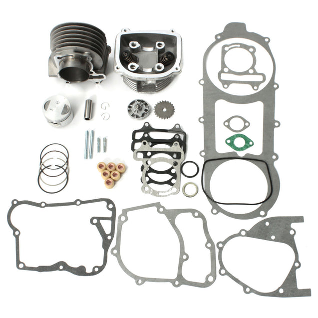 57mm Bore Cylinder Engine Rebuild Kit For 150cc Gy6 Chinese Scooter Parts