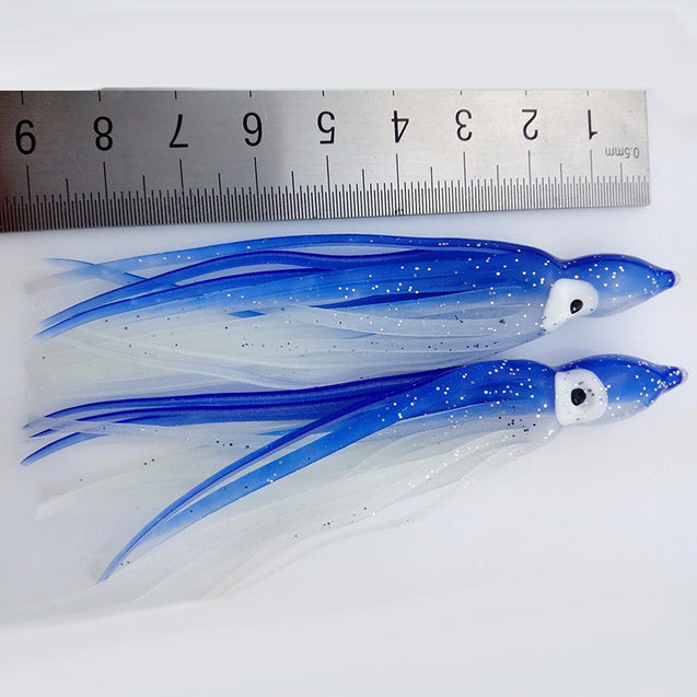 ZANLURE 10Pcs 10CM Soft Plastic Fishing Lures Trolling Squid Skirt Lure Bait Fishing Tackle Tools
