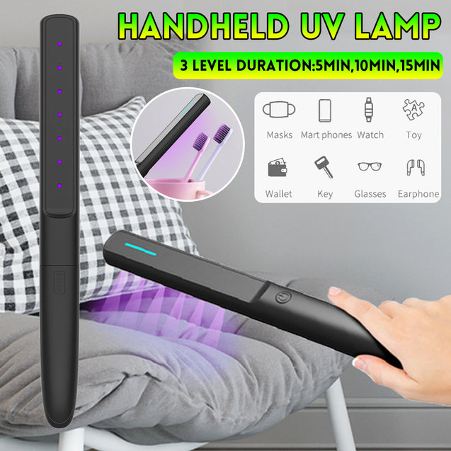 3 Level Portable UV Handheld UV Light Disinfection Lamp for Home Office Travel