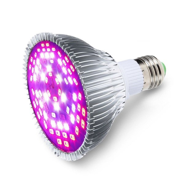 GLIME E27 45W 78 LED Full Spectrum Grow Light Lamp Blub for Plants Hydroponics Vegetables AC85-265V