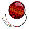 12V 25LED Hamburger Rear Tail Lamp Round Stop Indicator Light for Trailer Truck Caravan Van Bus