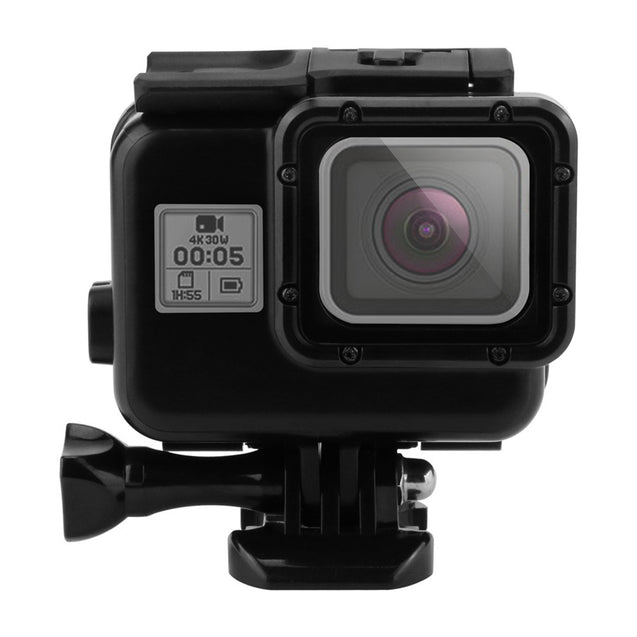 Black King Kong 60M Waterproof Shell Case Touch Screen Backdoor for GoPro Hero 7 6 5 Black