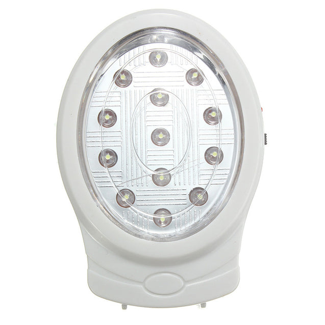 13 LED Rechargeable Wall Emergency Night Light Power Automatic Lamp Bulb 110-240V