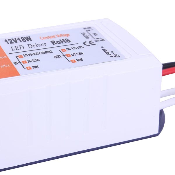 3X 12V 18W LED Driver Power Supply Driver AC 90-220V