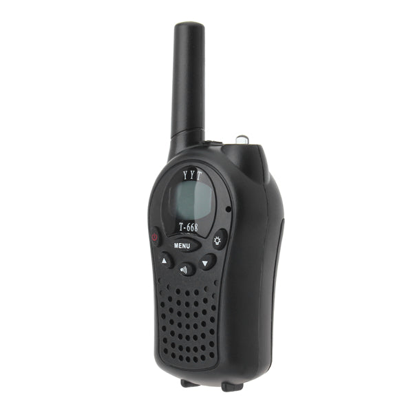 T-688 0.5W UHF Auto Channels Mini Radios Walkie Talkie Pair Black