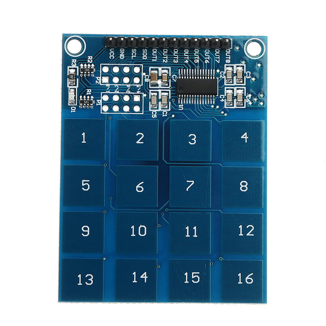 3Pcs XD-62B TTP229 16 Channel Capactive Touch Switch Digital Sensor Module Board Plate For Arduino