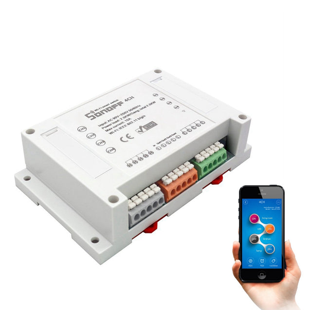 SONOFF 4CH 4 Channel 10A 2200W 2.4Ghz Smart Home WIFI Wireless Switch APP Remote Control Module