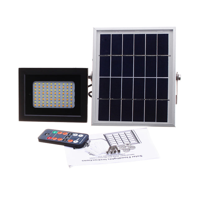 10W 80 LED Solar Power Light Outdoor Camping Tent Lantern Waterproof Remote Control Wall Lamp