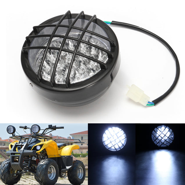 12V Front LED Headlight Lamp For ATV Quad 4 Wheeler Go Kart Roketa SunL Taotao