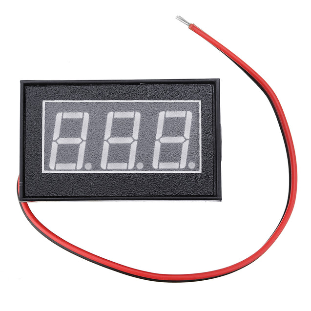 5pcs Blue DC3-30V LCD Display Digital Voltage Meter Waterproof Dustproof 0.4 Inch LED Digital Tube