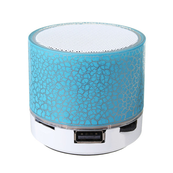 Mini Portable Wireless Bluetooth Hifi Bass Stereo Speaker MIC TF USB LED