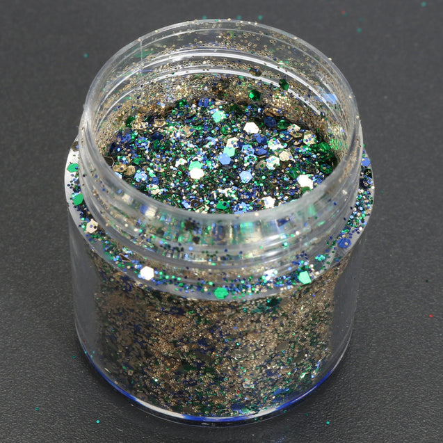 4 box 10ml Green Iridescent Nail Art Glitter Powder Sheet 1mm Sequins Sparkly Colorful Acrylic Tips