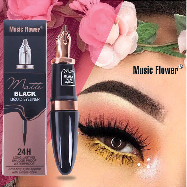 Music Flower Waterproof Eyeliner Pen Shape Makeup Cosmetic Eye Liner