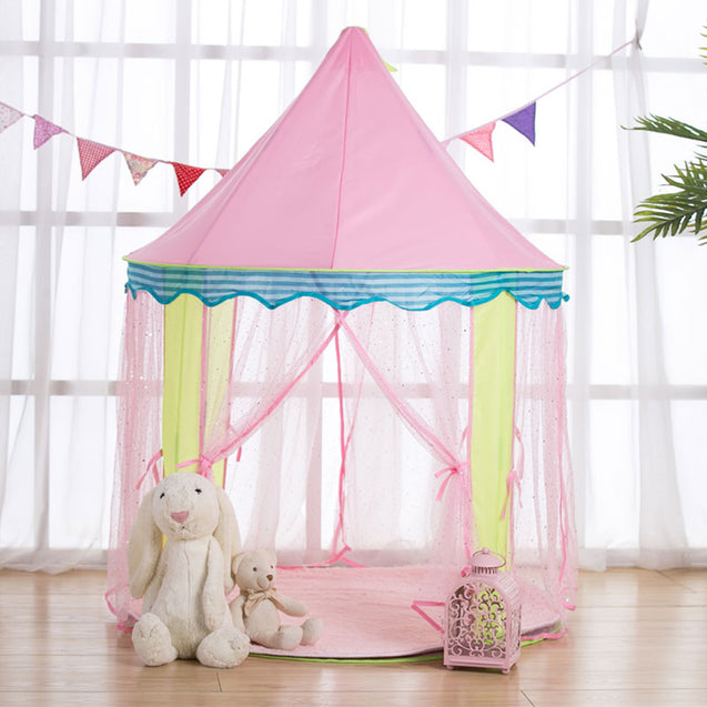 Protable Kids Pink Princess Tent Folding Children Toy House Kids Mosquito Large Game Room