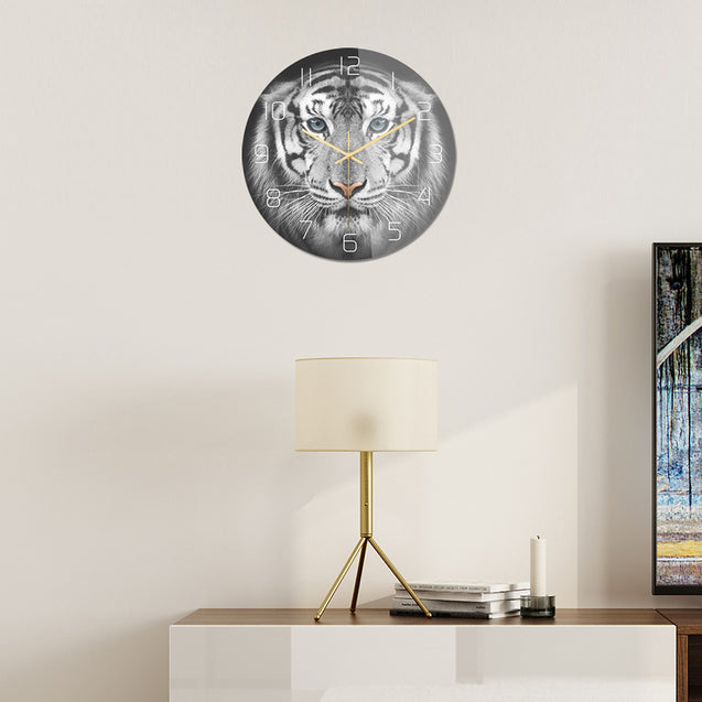 Loskii CC099 Creative Wall Clock Mute Wall Clock Quartz Wall Clock For Home Office Decorations