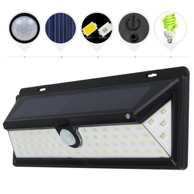 LED Solar Power PIR Motion Sensor Wall Lamp Waterproof Outdoor Garden Yard Light