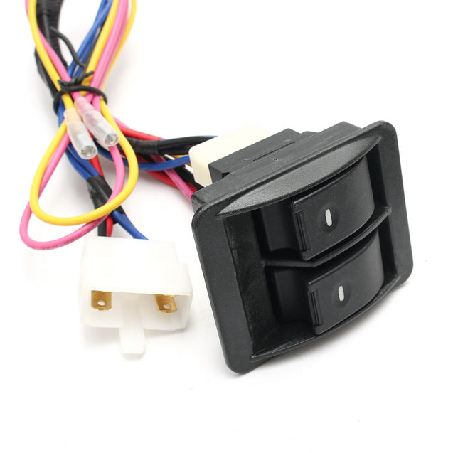 6Pcs 12V Universal Power Window Switch Kits With Installation Wiring Harness