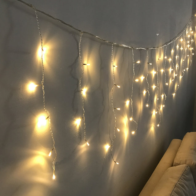 4M*0.6M Waterproof Warm White 96 LED Curtain String Light for Christmas Wedding Holiday Decor AC220V