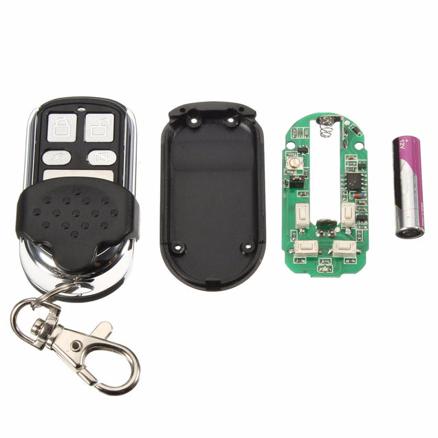 4 Button 318MHz Plastic Garage Gate Key Remote Control Replacement For MPC2 B&D TX318