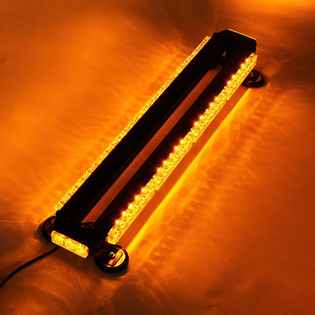Car Emergency Flashing Strobe Lamp Work Light Bar 54 LED Double-Sided Warning Light Assembly