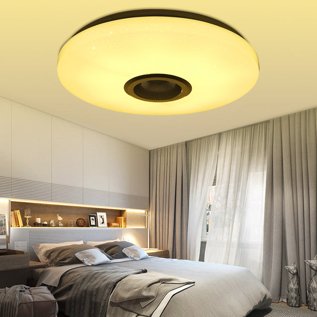 RGBW LED Ceiling Light Music Speaker Lamp Bluetooth APP + Remote Control Bedroom Smart Ceiling Lamp