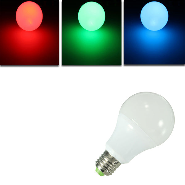 E27 10W RGB 16 Color LED Globe Bulbs RGB LED Light With 24Key Rmote Control AC 85-265
