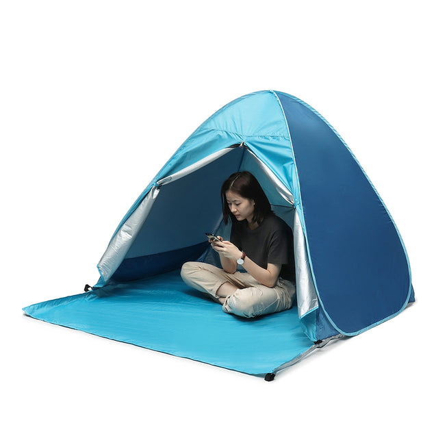 Outdoor 4 People Camping Beach Pop Up Tent Automatic Waterproof Anti-UV Sunshade Canopy