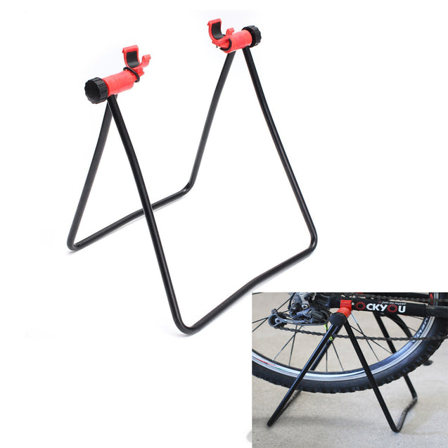 Bike Bicycle Stand Parking Kickstand Foldind Wheel Stand Support Rack Adjustable