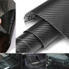 100x24'' 3D Black Carbon Fiber Car Body Vinyl Wrap Decal Sticker Roll Film Sheet