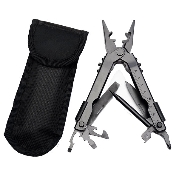 13 in 1 Multifunction 12x4x2cm Fishing Pliers Outdoor Hand Folding Knife Pliers Opener Ruler Tools