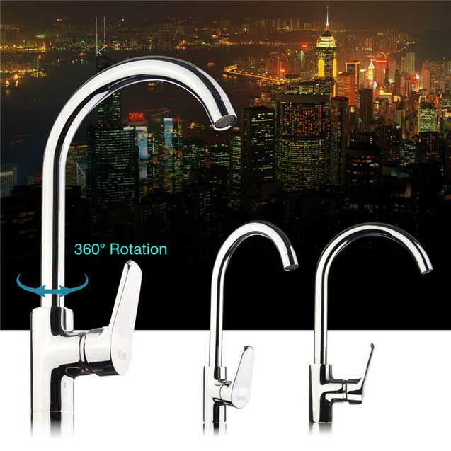 Kitchen Mixer Faucet Copper Sink 360 Degree Swivel Tap Bathroom Basin Tap