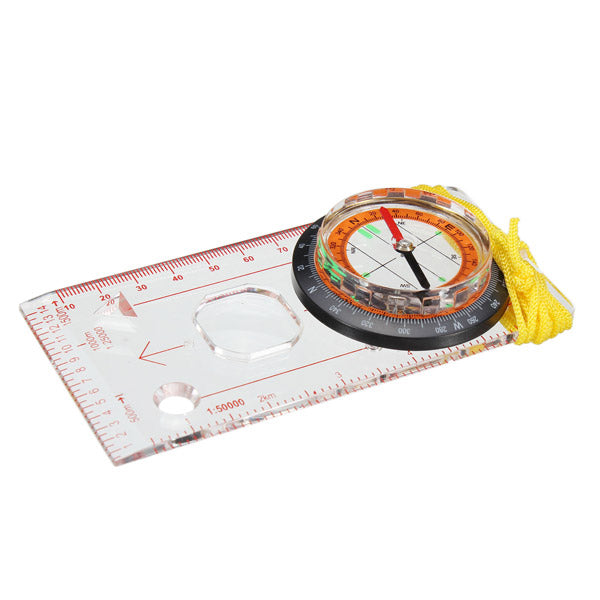 Outdooors Base Plate Ruler Map Scale Compass Scouts Camping Hiking Kit