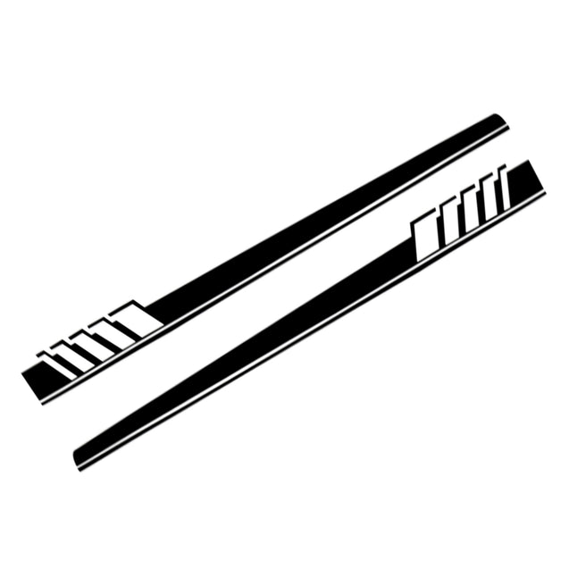 Pair Car Side Body Racing Stripe Decal Vinyl Sticker Sports Lower Door Panel