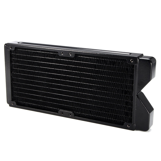 G1/4 240mm 12 Pipes Copper Water Cooling Radiator Computer CPU Heatsink Radiator